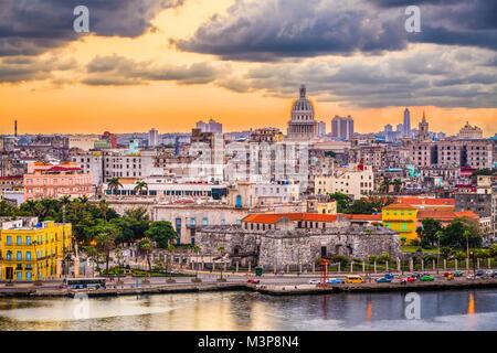 La Havane, Cuba le centre-ville. Banque D'Images
