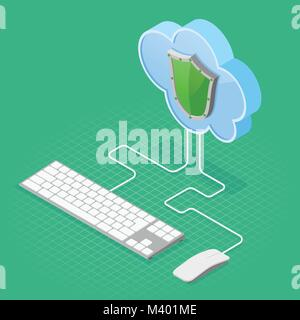 La technologie Cloud Computing la tension isométrique Banque D'Images