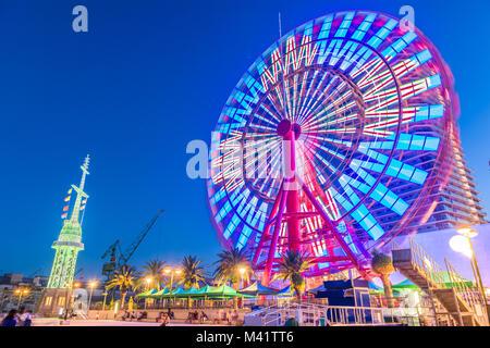 Kobe, Japon port et parc. Banque D'Images