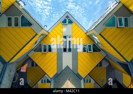 La Rotterdam Pays-Bas - 22 juin 2017 - Cube maisons dans centre de Rotterdam Banque D'Images