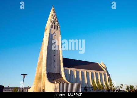 L'église Hallgrimskirkja à Reykjavik, Islande, Banque D'Images