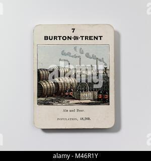 Vintage jeu - les comtés de l'Angleterre 2ème série du jeu de cartes (c.1860) produit par John Jaques Banque D'Images