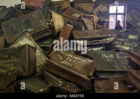 Auschwitz, Malopolskie / Pologne - 04 févr. 2018: Auschwitz Birkenau, camp de concentration et d'extermination Banque D'Images