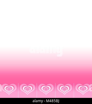 Arrière-plan avec l'emplacement pour un texte à l'aide de coeurs abstrait