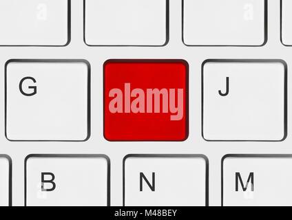 Blank red touche Entrée du clavier de l'ordinateur