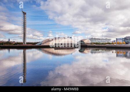 La tour de Glasgow, le Centre des sciences, le Cinéma Imax et BBC Scotland HQ, partie de la Clyde Waterfront Regeneration, Banque D'Images