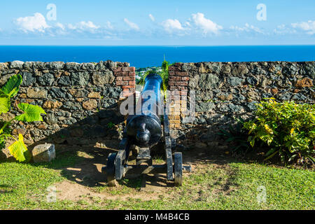 Fort King George, Scarborough, Tobago, Trinité-et-Tobago,Caraïbes Banque D'Images