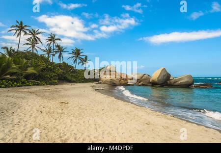 Arrecifes Plage, Parc national naturel de Tayrona, Colombie Banque D'Images
