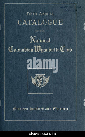 Catalogue annuel de la Columbian Wyandotte Club (1909) (18397499806) Banque D'Images