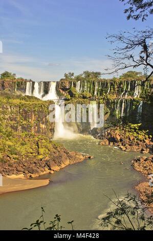 Chutes d'Iguaçu au Brésil, en Amérique du Sud Banque D'Images