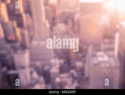 Résumé de flou artistique flou urbain paysage urbain de la ville de New York Banque D'Images