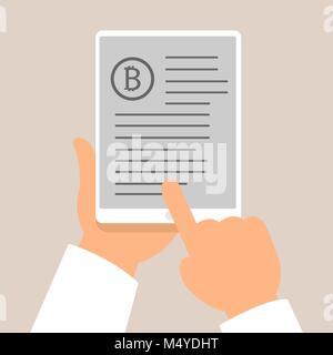 Concept et Technologie Bitcoin icons design, illustration vectorielle Banque D'Images