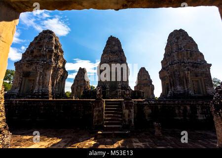 East Mebon Angkor Wat Siem Reap Cambodge Asie du Sud-Est est un 10e siècle temple à Angkor, au Cambodge. Construit Banque D'Images