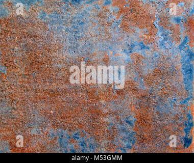 Rusty metal plaque peint texture, peut être utilisé comme arrière-plan Banque D'Images