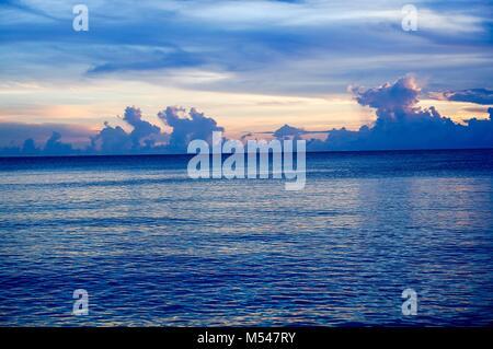Sanibel Island, Floride - coucher de soleil sur la plage Banque D'Images