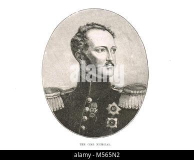Le tsar Nicolas Ier de Russie, 1796-1855, Empereur de Russie, régna 1825-1855, roi de Pologne et Grand-duc de Finlande Banque D'Images