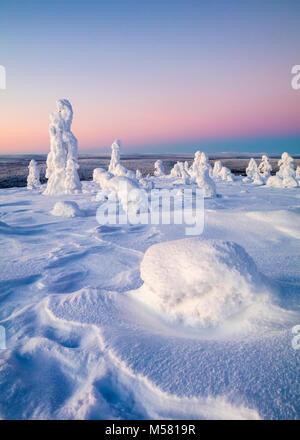 Snowy fells en Finlande