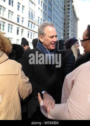 La Marche des femmes à New York City, New York, comme des marches similaires ont été organisées à travers les Etats Banque D'Images