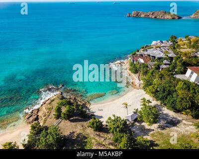 Giorgio Armani's Retreat Cliffside, Galley Bay Beach, Antigua Banque D'Images