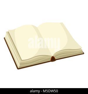 Livre blanc ouvert. L'illustration pour l'éducation et de l'école Banque D'Images
