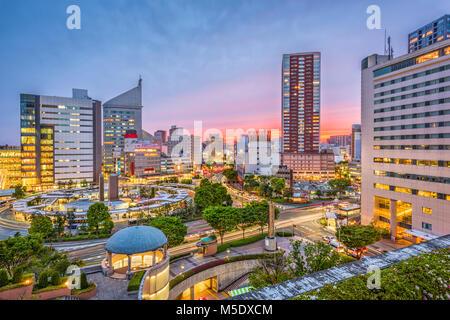 La ville de Hamamatsu, Japon centre-ville paysage urbain. Banque D'Images