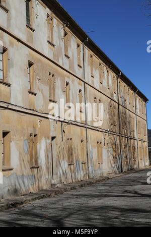 L'Espagne, la Catalogne, Puig-Reig. Pouvez Vidal. Colonie Industrielle Textile. 1901-1980. Le logement des travailleurs. Banque D'Images