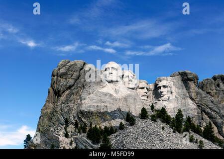 00028-00 SD...LE DAKOTA DU SUD - Presedents Georg Washington, Thomas Jefferson, Theodore Roosevelt et Abraham Lincoln Banque D'Images