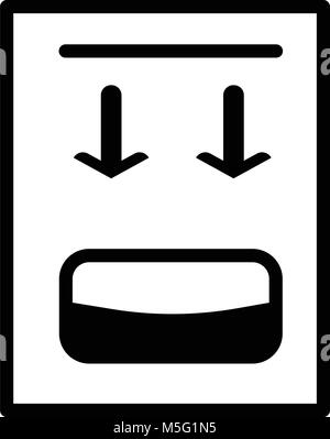 Ligne de l'icône bidon de style contour isolé sur fond blanc, l'illustration est plat, vector, pixel parfait pour Banque D'Images
