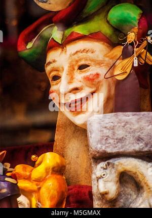 Masque de carnaval vénitien, Venice Banque D'Images