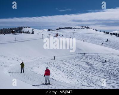 Début de l'hiver, Sentier Catwalk Timberline, station de ski de Vail, Vail, Colorado. Banque D'Images