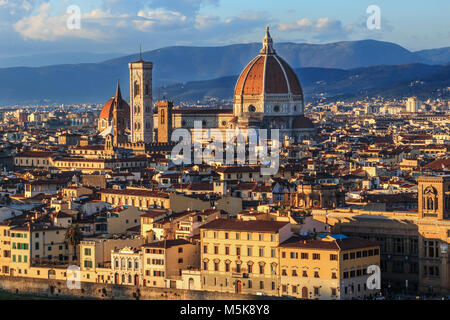 Vue du haut de la cathédrale de Florence Banque D'Images