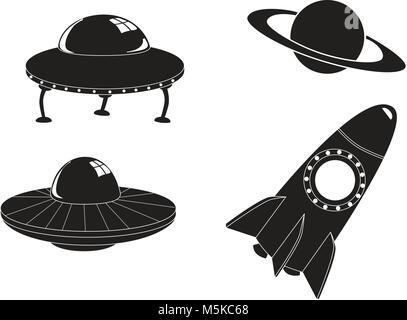 Les icônes de l'espace Voyage Banque D'Images