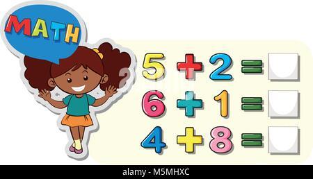 Pour plus de feuille de travail de maths illustration ...