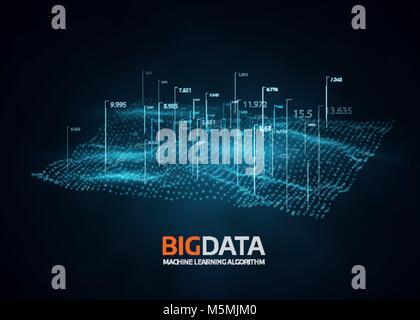 Big la visualisation de données. Vector background futuriste. Banque D'Images