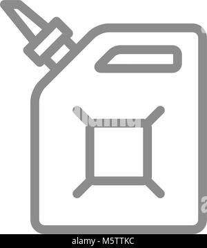 Cartouche simple de l'essence, de l'entonnoir, l'icône de la ligne d'alimentation d'essence. Symbole et signe vector Banque D'Images