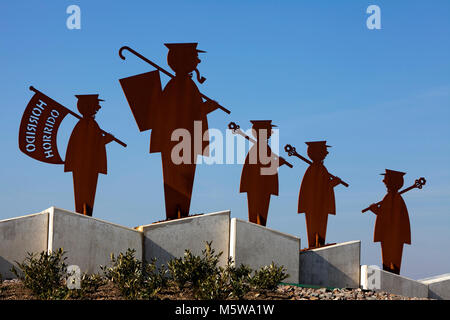 Monument des tireurs, Schuetzenplatz square, Lüdenscheid, Rhénanie du Nord-Westphalie, Allemagne;