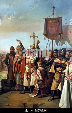 La reprise des eaux de Cadix par le roi Alphonse X 1262 ) 1865 l'Espagne, l'espagnol, ( 1262, après la conquête Banque D'Images