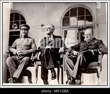 WW2 historique Conférence de Téhéran (nom de Eureka) une réunion stratégique de dirigeants Joseph Staline, Franklin Banque D'Images