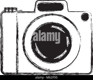 L'icône de caméra isolé photo Banque D'Images