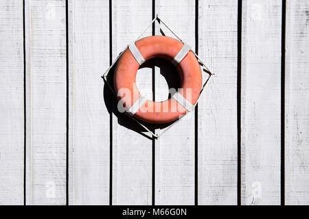 Conservateur de vie accroché à une clôture en bois Banque D'Images