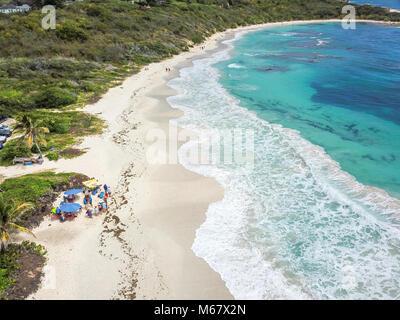 Half Moon Bay Beach, Antigua Banque D'Images