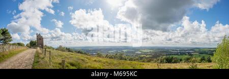 Le Pigeonnier , Rivington se trouve au-dessus de la plaine du Lancashire à sur les villes de Horwich et Chorley Banque D'Images