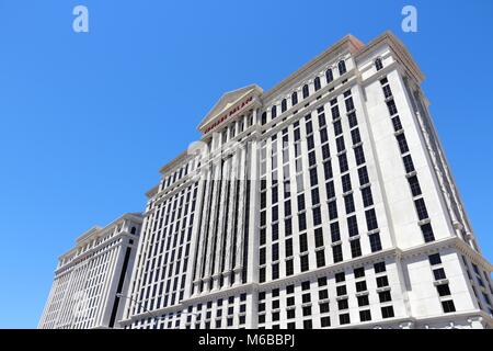 LAS VEGAS, USA - 14 avril 2014: Caesars Palace Resort de Las Vegas. C'est l'un des 20 plus grands hôtels du monde avec 3 960 chambres.