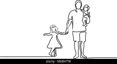 Avec Père Fils Fille silhouette