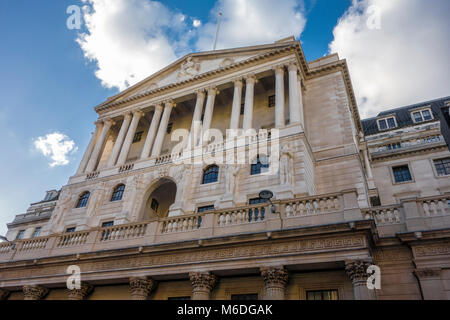 Banque d'Angleterre, Threadneedle Street, City of London, UK Banque D'Images