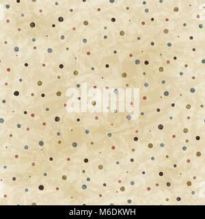 Vintage transparent motif dots sur paper texture Banque D'Images
