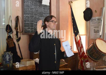 Prévôt au 150e anniversaire de l'État. WV Le samedi, 22 juin, 2013, Parc historique national Harpers Ferry a organisé Banque D'Images