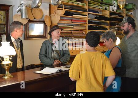 Mercerie au 150e anniversaire de l'État. WV Le samedi, 22 juin, 2013, Parc historique national Harpers Ferry a organisé Banque D'Images