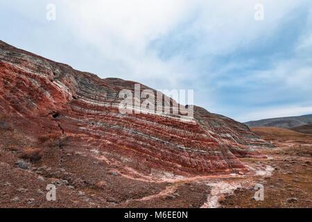 Rayée rouge incroyable montagne Banque D'Images