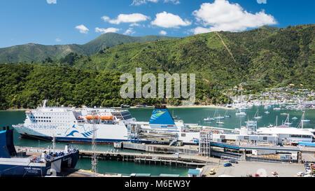 Ferry Interislander à Picton, île du Sud, Nouvelle-Zélande Banque D'Images